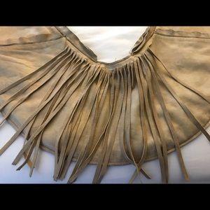The Sash Bag Bags - The Sash Bag- Tan Leather Fringe~With Dustbag/Card